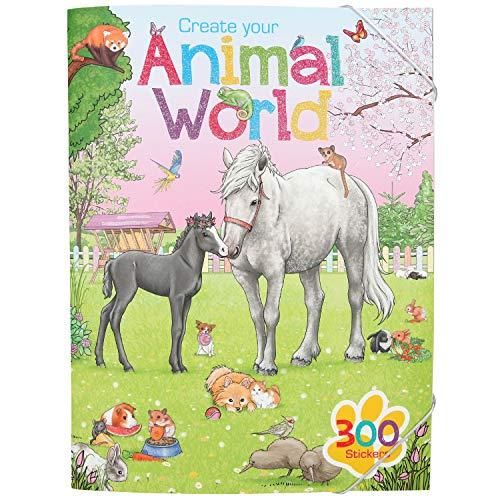 Depesche 11147 Malbuch Create Your Animal World mit Stickern, ca. 33 x 25 x 0,5 cm