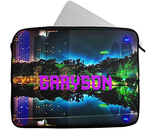 Personalised Any Name Generic Design Laptop Case Sleeve Tablet Bag Chromebook Gift 38 (9-10 inch)