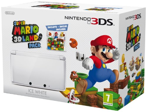 Nintendo 3DS - Konsole, weiß (inklusive Super Mario 3D Land)