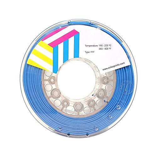 Eolas Prints | TPU Filament 1.75 | Flexible | 3D Drucker | Made in Europe, Geeignet für Lebensmittel und Spielzeug | 1,75mm | 1Kg | Cyan
