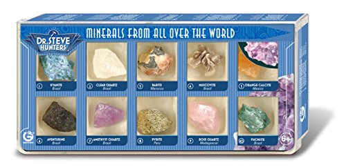 Dr. Steve Hunters ed501 K – Minerals from All Over The World, 10 minerales
