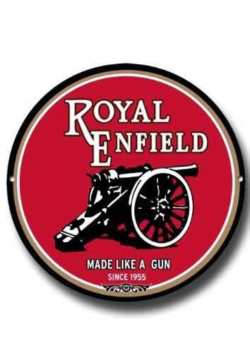 Royal Enfield' Made Like A Gun' Rond Métal Signe
