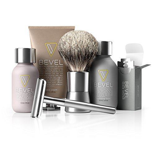 Price comparison product image Bevel Shave System - Starter Kit. Safety Razor,  Shave Creams,  Oil,  Balm and 20 Blades. Clinically Tested to Help Prevent Razor Bumps
