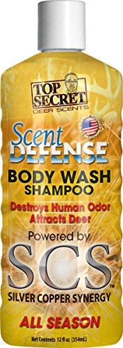 Top Secret Deer Scent Defense Body Wash and Shampoo, Yellow, 12 oz