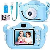 SoloKing Cámara para Niños,Video Cámara Infantil con 12 Megapíxeles,Doble Lente,Pantalla LCD de 2.0 Pulgadas,Video HD de 1080P,32GB Tarjeta de Memoria Incluida (Azul)