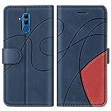 SUMIXON Hülle für Huawei Mate 20 Lite, PU Leder Brieftasche Schutzhülle für Huawei Mate 20 Lite, Kratzfestes Handyhülle mit Kartenfächern & Standfunktion, Blau