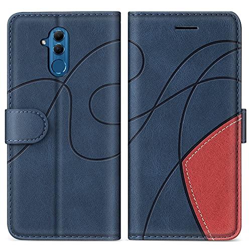SUMIXON Cover per Huawei Mate 20 Lite, Custodia in PU Pelle per Huawei Mate 20 Lite, Portafoglio Cover a Libro con Chiusura Magnetica e Slot per Carte, Blu