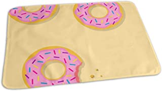 Changing Pad Yellow Donut Baby Diaper Urine Pad Mat Unique Boys Bed Wetting Pads Sheet for Any Places for Home Travel Bed Play Stroller Crib Car