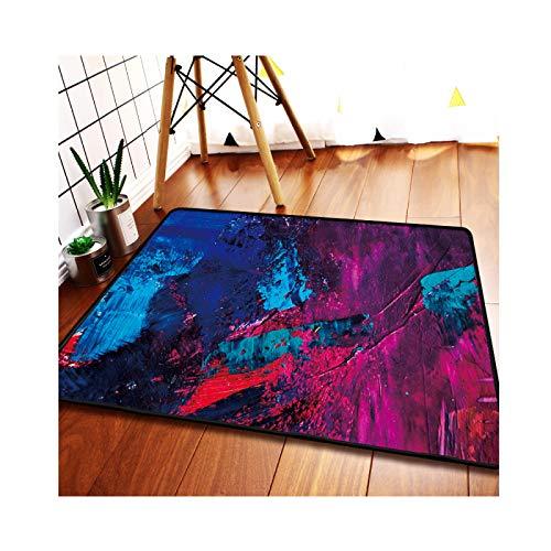 Nordic Carpet,Quality Material,Indoor Cushion,Oil Painting Stylecarpet,Retro Non-Slip Living Room Floor Mat,Rugs Children's Room/Bedroom/Bathroom,K-80 * 120cm