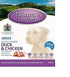 Hypo-allergenic Complete Food - no need to add anything extra No artifical colourings, preservatives or flavourings High amount of fresh meat Formulated to match a dogs natural diet