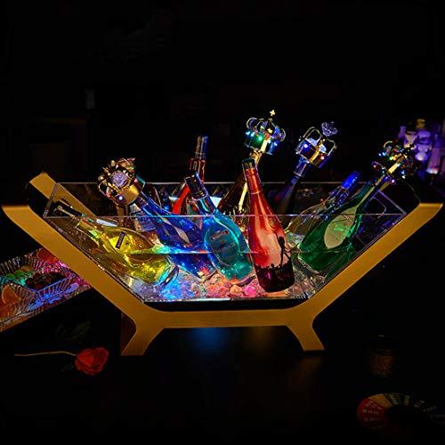 Secchiello Per Ghiaccio A LED, Lampada con Gradienti Colorati, Forma della barca ricaricabile Raffredda Bottiglie, Secchiello Per Spumante, Refrigeratore Per Bevande, Per Ristorante, Pub, Feste