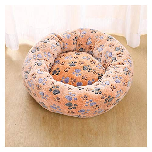 MWQCEW Morbido Pet Dog Bed Caldo in Pile Rotondo Rotondo Casa Kennel Peluche Peluche Pesce Pet Dog Bed Medium-Sized Dog Cat Cat Cat Soft Divano Cuscino per Cuccioli e Gattini