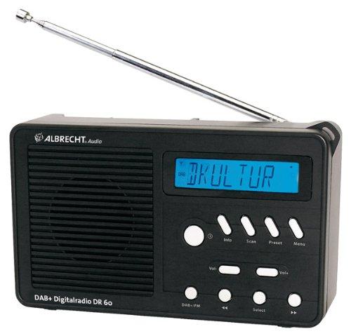 Albrecht DR60 Digitalradio (DAB, DAB+, UKW mit RDS) schwarz