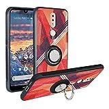 Funda para Nokia 4.2 2019, Fashion Design [Antigolpes] con 360 Anillo iman Soporte, Resistente a los arañazos TPU Funda Protectora Case Cover para Nokia 4.2 2019,Rose Red
