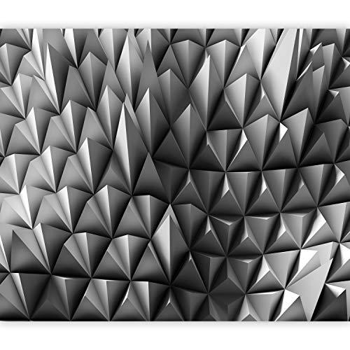 murando Fototapete selbstklebend Abstrakt 392x280 cm Tapete Wandtapete Klebefolie Dekorfolie Tapetenfolie Wand Dekoration Wandaufkleber Wohnzimmer Optische 3d weiß geometrisch f-A-0847-a-a