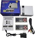 Familiari Classic Mini Console di Gioco + 2 Maniglie di Controllo Wireless NES Classic, Giochi Classici 620 Integrati per Adulti e Bambini-AV-Esportazione