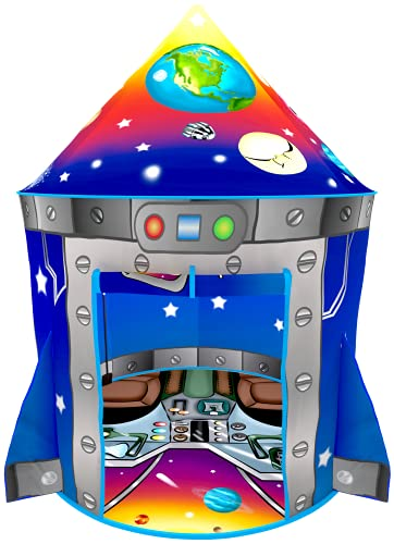 Product Image of the Rocket Ship Kids Play Tent | Unique Space and Planet Design Tent for Boys and...