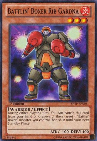 Yu-Gi-Oh! - Battlin39; Boxer Rib Gardna (SHSP-EN006) - Shadow Specters - 1st Edition - Common