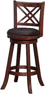 Boraam 65729 Porto Bar Height Swivel Stool, 29-Inch, Hazelnut
