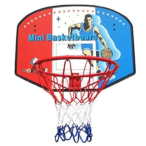 Einfach zu montieren Basketballbrett Basketballkorb Für Kinder Hölzern Basketball-Rückwand Hängend Innen- Kinderschießspielzeug Eisenfelgendurchmesser 45cm Einstellbar (Color : A)