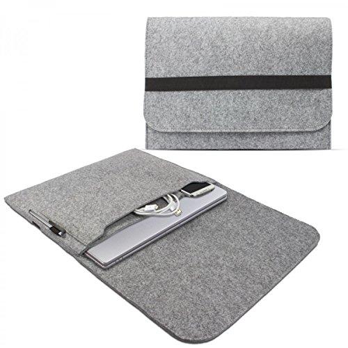 eFabrik Schutz Tasche für Lenovo Yoga Pro 3 (13,3 Zoll) Hülle Ultrabook Laptop Hülle Soft Cover Schutzhülle Sleeve Filz hell grau