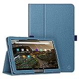 FINTIE Folio Funda para Amazon Fire HD 10 (Solo Compatible con el Tablet de 11.ª generación, Modelo de 2021) - Protectora Carcasa con Función de Soporte y Auto-Reposo/Activación, (Twilight Azul)