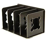 【Deli 】 ナチュラル スタイル シンプル デザイン 組み立て式 ブックエンド (ブラック) [並行輸入品]