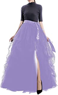 Women's Long Tutu Tulle Skirt A Line Floor Length Special Occasion Night Out fold Skirt