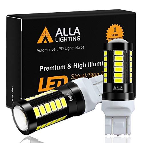 Alla Lighting 2800lm 7440 7443 LED Bulbs Xtreme Super Bright T20 7441 7442 7444NAK LED Bulb 5730 33-SMD Car Back-Up Reverse,Turn Signal,Brake Stop Lights TailLights DRL, 6000K Xenon White