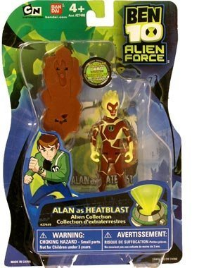 Ben 10 Alien Force 4 Inch Action Figure Alan (as Heatblast) by Bandai