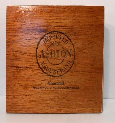 Ashton Churchill Wooden Cigar Box 8' X 7.5'