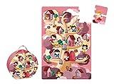 Janod - Maleta Puzzle Gigante árbol y Princesas, 36 Piezas (J02994)