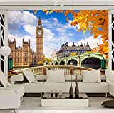 Murales Papel pintado personalizado Londres Big Ben Edificio Paisaje 3D Sala de estar Sofá TV Fondo Foto Papel de pared Decoración para el hogar Pintura