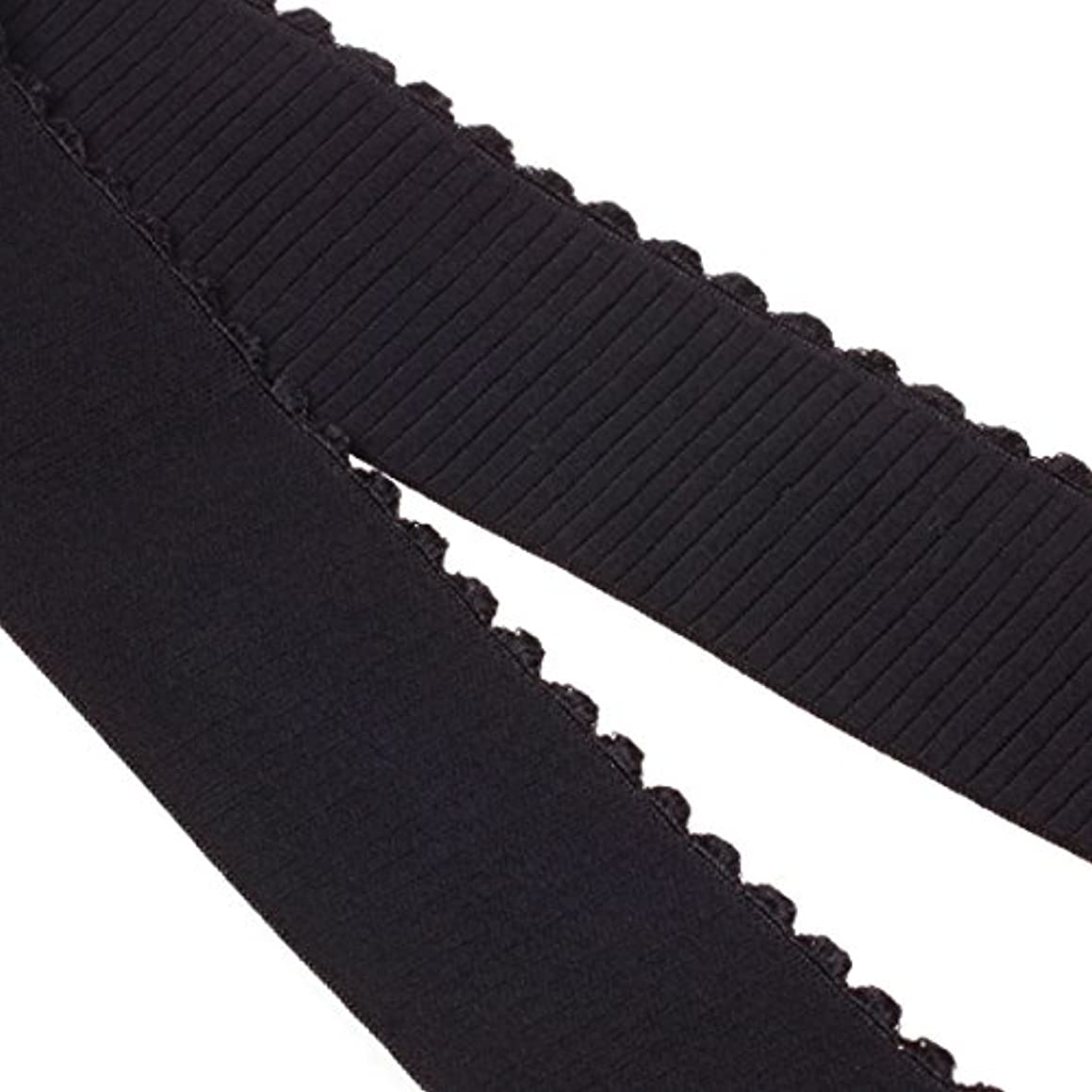 COTOWIN 2-inch Wide Plush Wavy Edge Elastic By 3 Yard, Comfortable Sewing Elastic Waistband Band