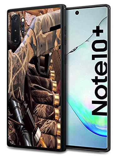 Galaxy Note 10 Plus/Note 10 Plus 5G Case, Premium TPU Slim Shockproof Rubber Protective Case for Samsung Galaxy Note 10 Plus/Note 10 Plus 5G (2019), Duck Hunting Camouflage Shotgun Bullets Decoy