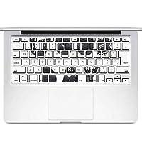 igsticker MacBook Air 13inch 2010 ~ 2017 専用 キーボード用スキンシール キートップ ステッカー A1466 A1369 Apple マックブック エア ノートパソコン アクセサリー 保護 016126 英語 モノクロ