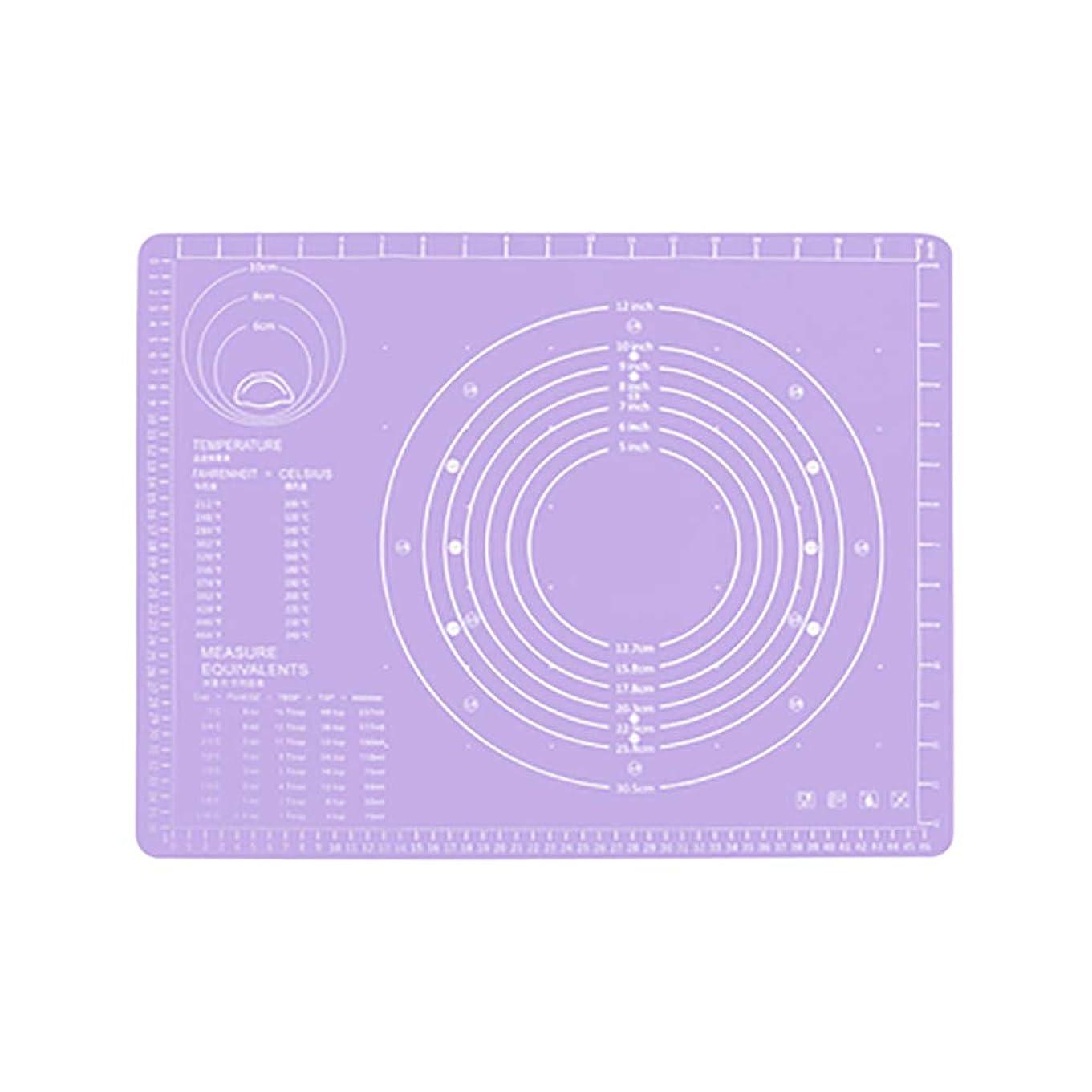 マトン抑制水差しRefaxi シリコーン生地ローリング混練パッド高温ケーキペストリーベーキングパッド(紫)