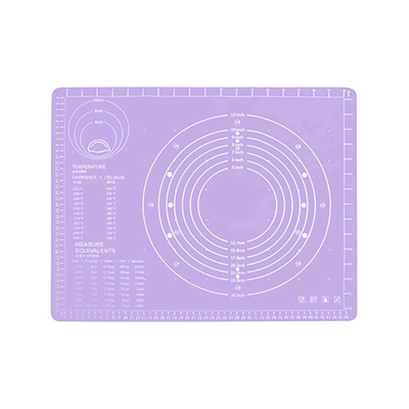 粒虚栄心ホールRefaxi シリコーン生地ローリング混練パッド高温ケーキペストリーベーキングパッド(紫)