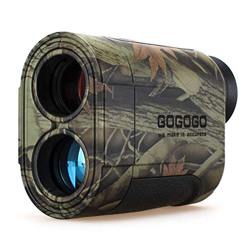 Gogogo 6X Hunting Laser Rangefinder Range Finder Distance Measuring Outdoor Wild 650/1200Y with Slop High-Precision Continuous Scan (1200Yard)