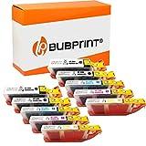 10 Bubprint Cartuchos de Tinta Compatible para Canon PGI-550 CLI-551 XL para Pixma IP7200 IP7250 IX6850 IP8750 MG5450 MG5550 MG5650 MG6350 MG6450 MG6650 MG7150 MG7550 MX725 MX920 MX925 Multipack