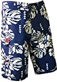 Maui Rippers Island Floral Boardshorts Blue (33, Blue)