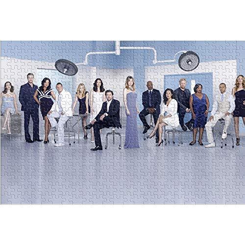 1000 Puzzlespielzeuge für Erwachsene und Kinder Season 7 Grey Anatomy 1000 Stück Puzzle Movie Poster Brain Challenge Puzzlespiel Spielzeug (52x38cm)