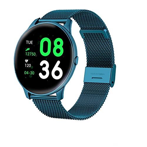 Mujer Smart Watch Pronóstico del Tiempo en Tiempo Real Actividad Tracker Tarifa cardíaca Monitor Sports Ladies Smart Watch Hombres (Color : Hook Blue)