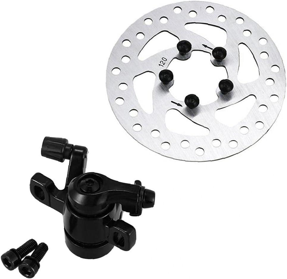 EElabper Bloque de Freno de Banda de Scooter eléctrico 120 mm de Freno de Disco Compatible con XIAOMI M365 / 1S / Pro / PRO2 / Lite Piezas de Repuesto Accesorios