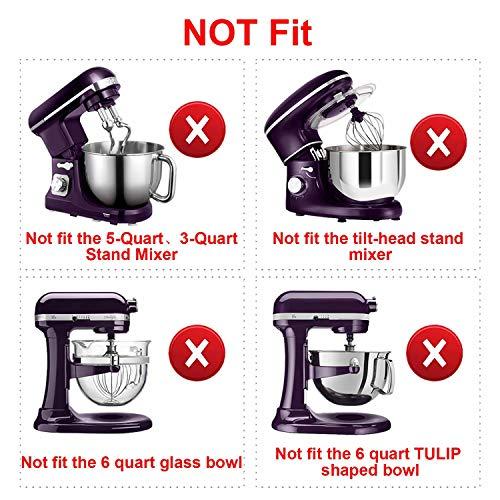 AIZARA 6 Quart Stand Mixer Attachments for 6 QT Bowl-Lift Stand Mixer, Flat Beater Flex Edge Beater for Stand Mixer 6 qt Bowl Scraper Blade Paddle