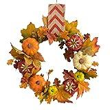 30cm Fall Kranz for Haustür - Bonus-Dekor-Pack - Handcrafted Boxwood Base- Ideal for Herbst &...