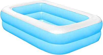 Bestway Piscina familiar grande rectangular fácil de montar, adecuado para fiestas de verano, al aire libre, patios traseros, jardines, etc. Grueso, resistente al desgaste, 43,3 x 34,6 x 13 pulgadas