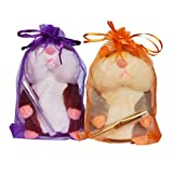2 Pack Little Talking Hamster Toy Animal Talking Toys Repeats What You Say Mimicry Pet Talking Record for Boys and Girls