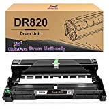 HaloFox Compatible Drum Unit Replacement for Brother DR820 DR-820 DR 820 (Black,1 Drum)