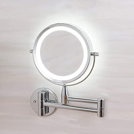 Specchio Per Trucco Da Parete.Amazon It Specchio Ingranditore Con Luce Specchi Da Parete